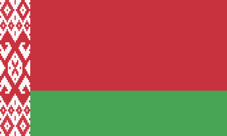 Detailed Illustration National Flag Belarus