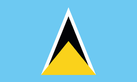 Detailed Illustration National Flag St. Lucia