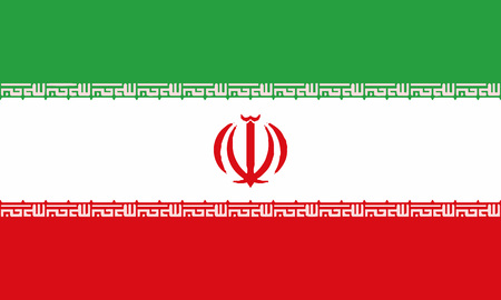 Detailed Illustration National Flag Iran 일러스트