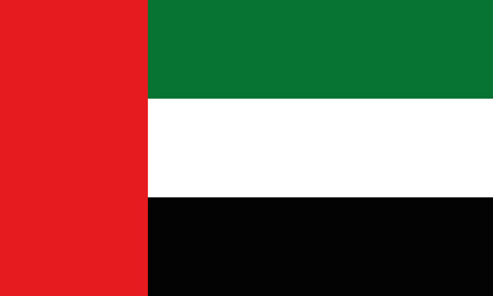 Detailed Illustration National Flag United Arab Emirates