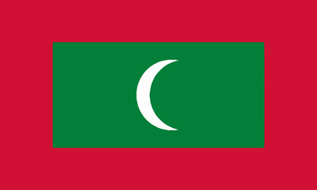 Detailed Illustration National Flag Maldives