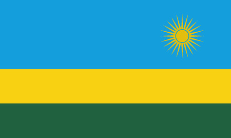 Detailed Illustration National Flag Rwanda