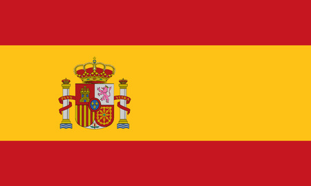 Detailed Illustration National Flag Spain 일러스트