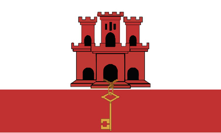 Detailed Illustration National Flag Gibraltar