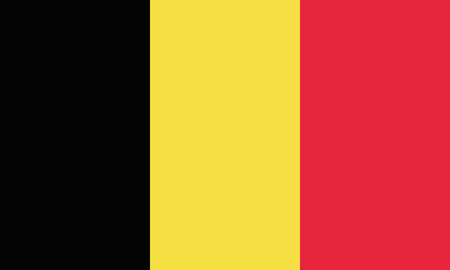 Detailed Illustration National Flag Belgium