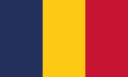 Detailed Illustration National Flag Chad 일러스트
