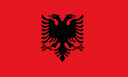 Detailed Illustration National Flag Albania