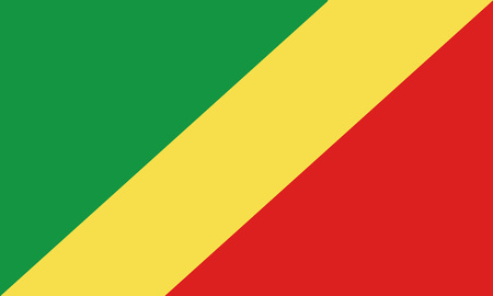 Detailed Illustration National Flag Republic of the Congo 일러스트