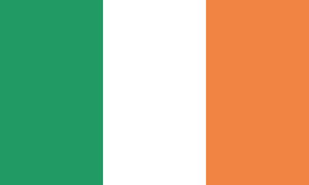 Detailed Illustration National Flag Irland