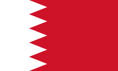 Detailed Illustration National Flag Bahrain