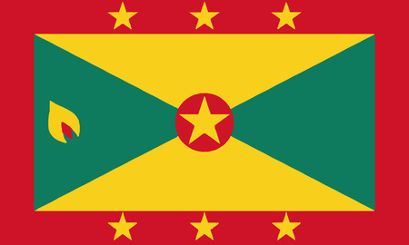 Detailed Illustration National Flag Grenada