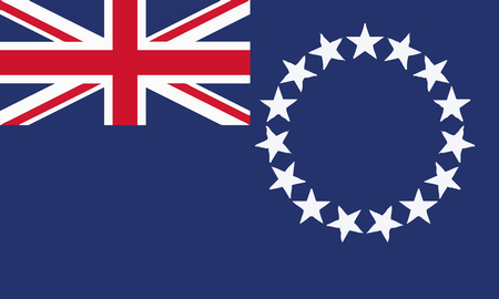 Detailed Illustration National Flag Cook Islands 일러스트