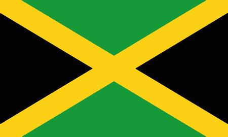 Detailed Illustration National Flag Jamaica