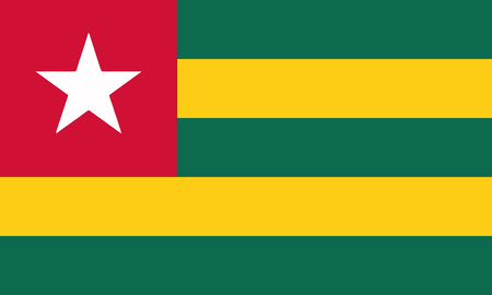 Detailed Illustration National Flag Togo