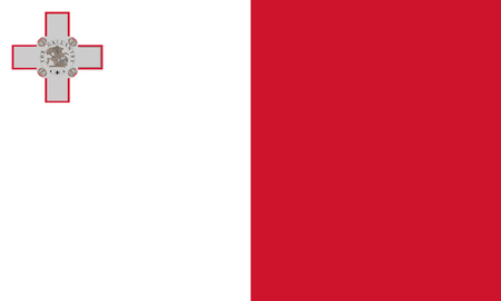 Detailed Illustration National Flag Malta