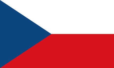 Detailed Illustration National Flag Czech Republic