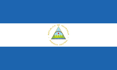 Detailed Illustration National Flag Nicaragua