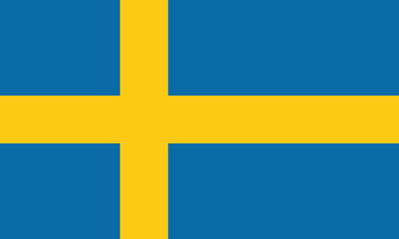 Detailed Illustration National Flag Sweden