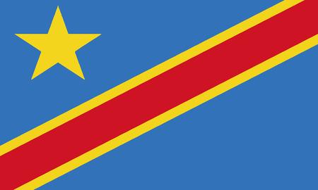 Detailed Illustration National Flag Democratic Republic of Congo 일러스트