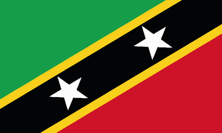 Detailed Illustration National Flag St. Kitts and Nevis 일러스트