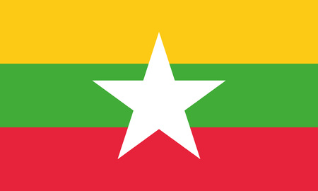Detailed Illustration National Flag Myanmar
