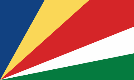 Detailed Illustration National Flag Seychelles 일러스트