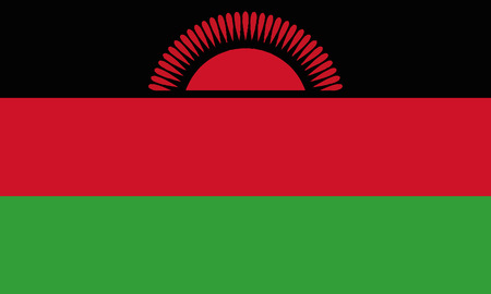 Detailed Illustration National Flag Malawi