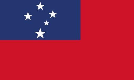 Detailed Illustration National Flag Samoa