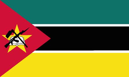 Detailed Illustration National Flag Mozambique