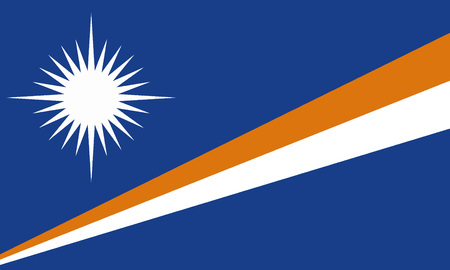 Detailed Illustration National Flag Marshall Islands