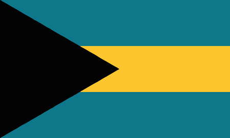 Detailed Illustration National Flag Bahamas