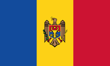 Detailed Illustration National Flag Republic of Moldova 일러스트