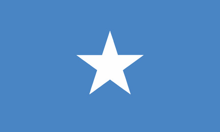 Detailed Illustration National Flag Somalia