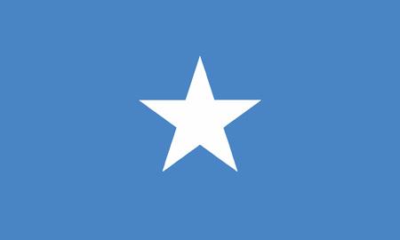 Gedetailleerde illustratie nationale vlag Somalië