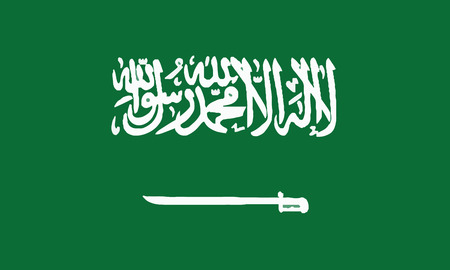 Detailed Illustration National Flag Saudi Arabia 일러스트