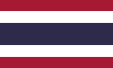 Detailed Illustration National Flag Thailand