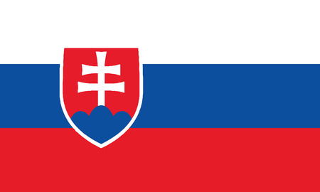 Detailed Illustration National Flag Slovakia