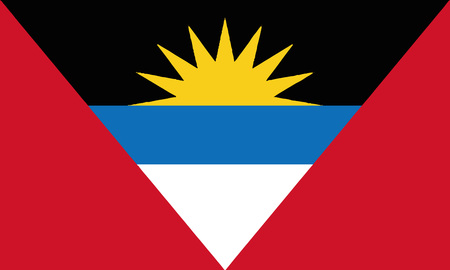 Detailed Illustration National Flag Antigua and Barbuda Illustration