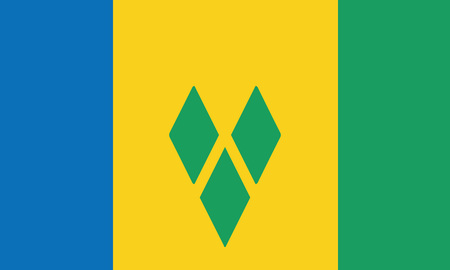 Detailed Illustration National Flag St. Vincent and the Grenadines