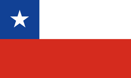 Detailed Illustration National Flag Chile 일러스트