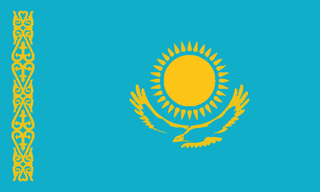 Detailed Illustration National Flag Kazakhstan