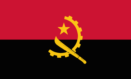 Detailed Illustration National Flag angola