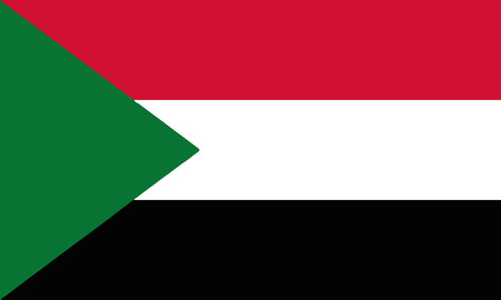 Detailed Illustration National Flag Sudan
