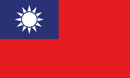 Detailed Illustration National Flag Taiwan