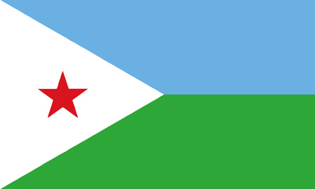 Detailed Illustration National Flag Djibouti