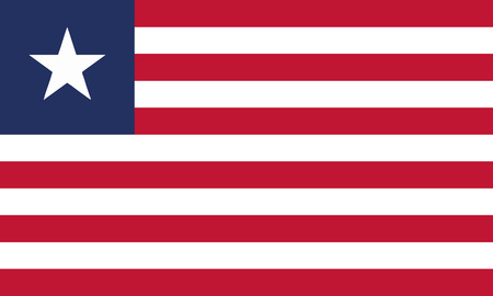 Detailed Illustration National Flag Liberia 일러스트