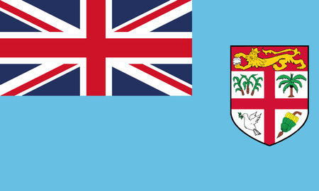 Detailed Illustration National Flag Fiji 일러스트