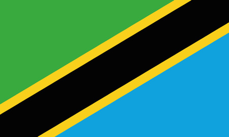 Detailed Illustration National Flag Tanzania 일러스트