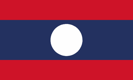 Detailed Illustration National Flag Laos