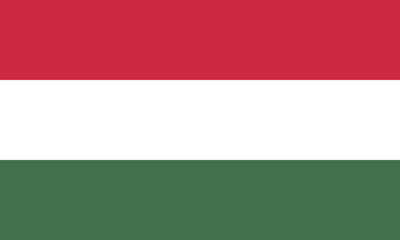 Detailed Illustration National Flag Hungary